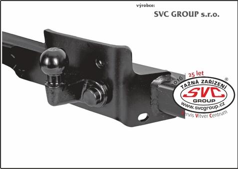 tažné přírubový SVC10-S Pro maximální pevnost spojení kulového čepu s nosníkem Tažného  Český výrobce tažných zařízení