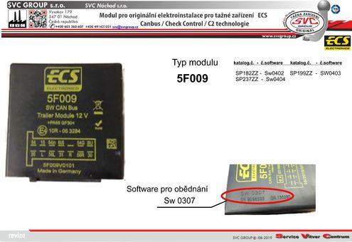 modul pro elektro instalace ECS  Originální přípojky pro auta 5F009 výrobce tažných zařízení SVC GROUP