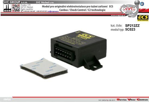 modul pro elektro instalace ECS  Originální přípojky pro auta 5C023 výrobce tažných zařízení SVC GROUP