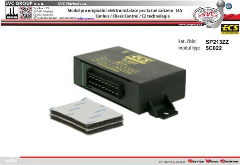 modul pro elektro ECS  Originální přípojky pro auta 5C022 výrobce tažných zařízení SVC GROUP