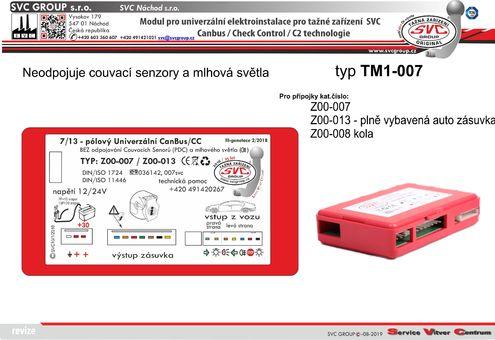 modul elektro instalace UNI řípojka pro tažné zařízení