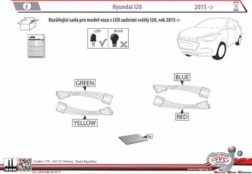 Rozšiřující sada pro Hyundai I20 pro Led světla