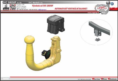 Vertikálná bajonet pro tažné zařízení