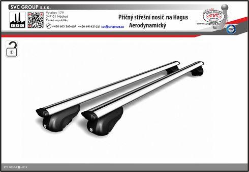 příčný střešní nosič na hagusy vozu  výrobce tažných zařízení SVC GROUP