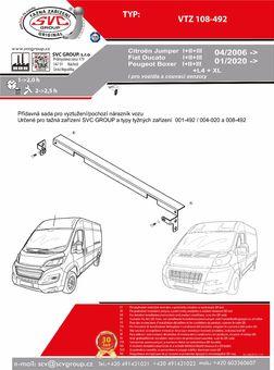 Citroen Fiat Peugeot - výztuha nárazníku