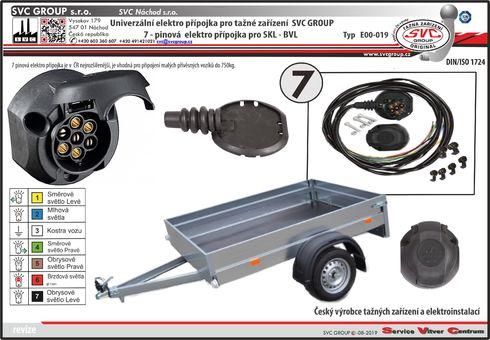 7 pinová univerzální elektroinstalace pro tažné zařízení