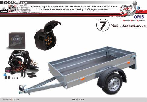 7 elektro instalace typová přípojka pro tažné zařízení SVC oris 041-248