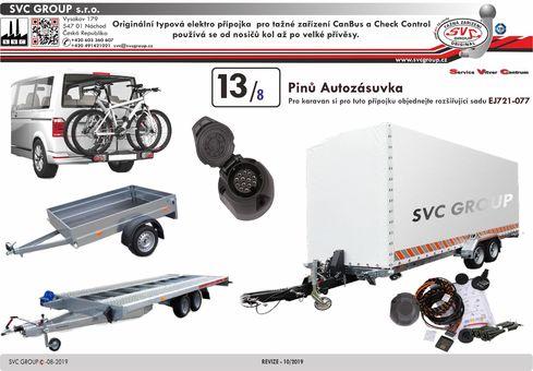 Elektroinatalace přípojka pro tažné zařízení SVC Jeager 13/8 JE-748374