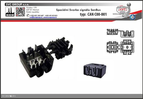 svorka pro CanBus k tažnému zařízení  Speciální propojovací konektor Dodavatel SVC GROUP Výrobce tažných zařízení