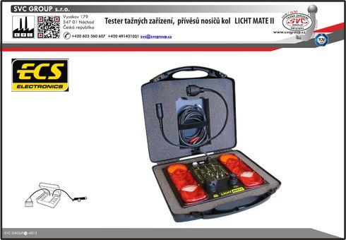 Zkušební tester tažného zařízení a karavanů Lich Mate II Výrobek využívá více možností použitých kufrů.  SVC GROUP