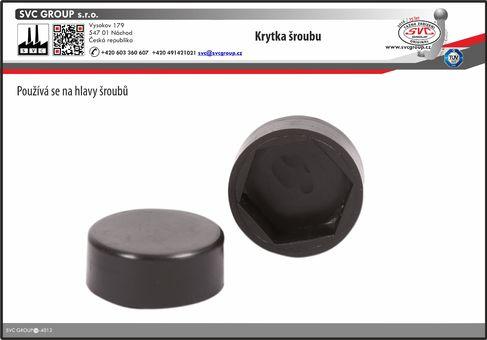 Plastová krytka na matičky o průměru 19 mm. Použitý kvalitní venkovní plast  Výrobce tažného zařízení SVC GROUP