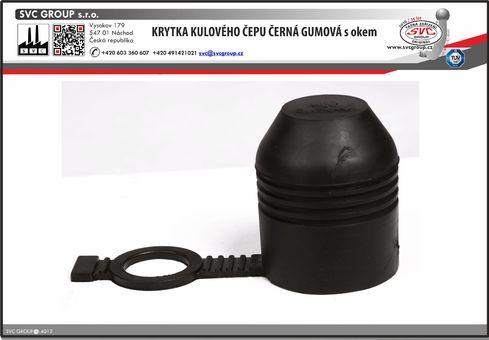 Krytka kulového čepu gumová  pro upevnění na kulovém čepu.  SVC GROUP Dodavatel Český výrobce tažných zařízení