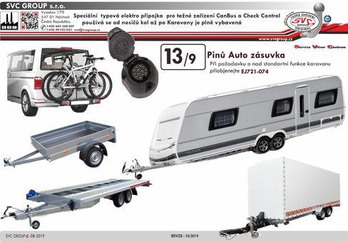 13 auto zásuvka pro tažné zařízení Jaeger tažné zařízení  EJ748242