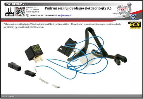 Speciální sada pro elektro přípojky pro tažné zařízení
