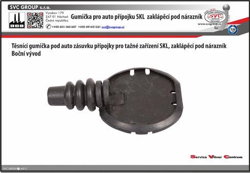 Těsnící gumička pro auto zásuvku boční vývod SKL
