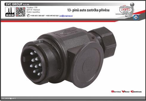 13- pinová zastrčka pro přívěs nebo nosič kol  od Výrobce tažných zařízení SVC GROUP