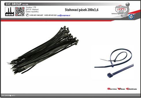Stahovací pásek pro stažení vodičů  cena za 100 ks  Dodavatel SVC GROUP