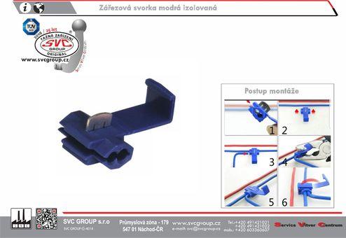 Zářezová propojovací svorka pro auto vodiče modrá Dodavatel SVC GROUP Výrobce tažných zařízení