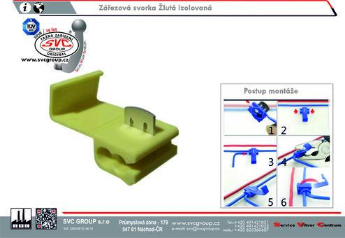 Zářezová svorka Žlutá izolovaná Dodavatel SVC GROUP Výrobce tažných zařízení  4.0-6,0 mm
