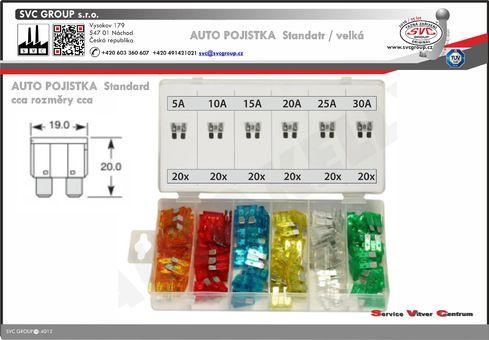 Pojistkový box standart  Dodavatel SVC GROUP výrobce tažných zařízení