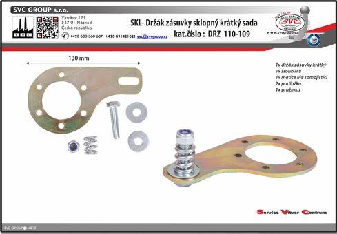 SKL držák auto zásuvky na tažném zařízení sklopný krátký.  Výrobce: EU / SVC GROUP