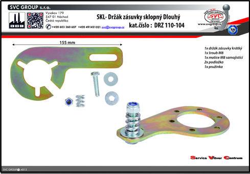 SKL držák auto zásuvky na tažném zařízení sklopný dlouhý.  Výrobce: EU / SVC GROUP