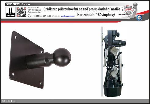 Držák nosiče kol na zeď horizontální  pro uskladnění  výrobce tažných zařízení