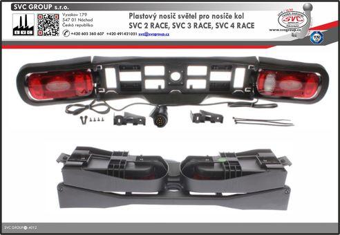 Náhradní držák světel pro nosiče kol na tažné zařízení.