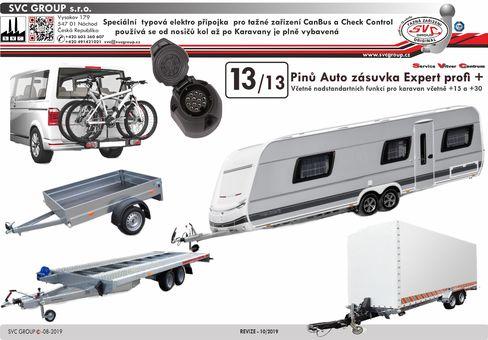 13 pólová elektro přípojka tažné zařízení SVC Group ecs VW-190-H1