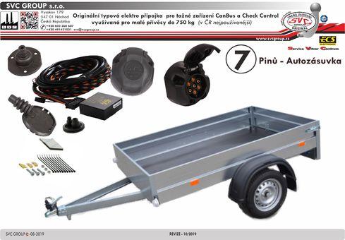 7 pólová elektro přípojka pro tažné zařízení originální  VW-201-B1