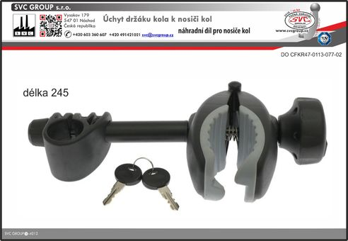 Držák rámu kola a nosiče kol set propojovací páky dlouhý 248mm  pro tažné zařízení