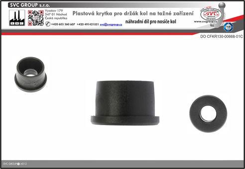 Koncová krytka pro držák kol k nosiči na tažné zařízení.