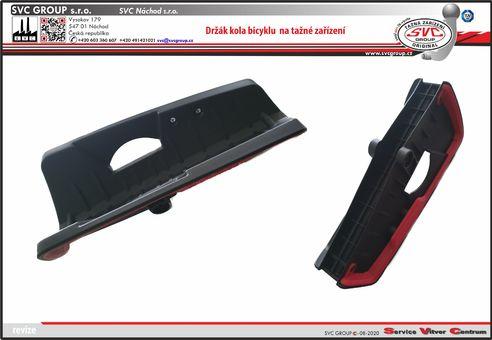 Opěra kola na nosiči pro tažné zařízení SVC Group