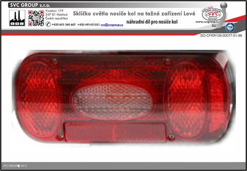 Sklíčko světla pro výměnu na nosičích kol Levá strana Výrobce tažných zařízení
