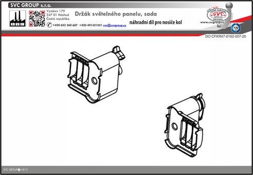 plastový držáky k upevnění registrační značky výrobce tažných zařízení
