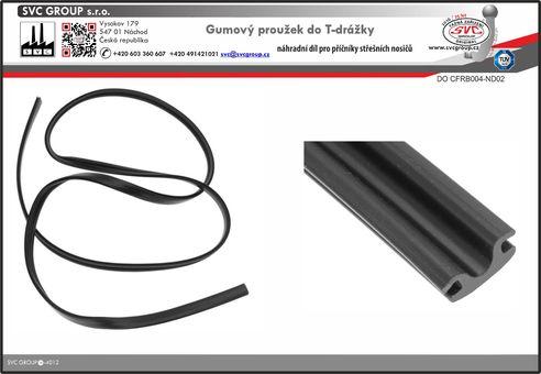 Gumový pásek do T drážky příčného nosníku  Výrobce tažných zařízení