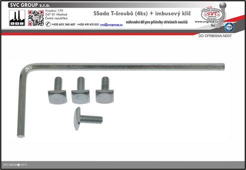 T šroub pro nosiče na hagusy    Český výrobce tažných zařízení SVC GROUP
