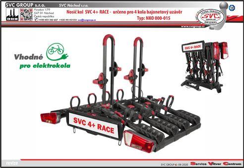 Nosič čtyř kol v pro tažné zařízení  SVC 4+ RACE Od výrobce tažných zařízení SVC GROUP.