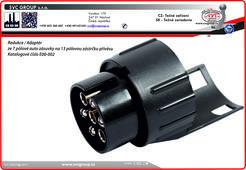 Adaptér 7 pin na 13 pinů  Propojení vozu se 7 pólové Auto zásuvku a 13 pólovou zástrčku přívěsu SVC GROU