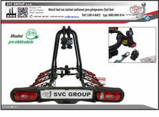 Nosič kol SVC CAR 4 RACE na 4 kola s inovovaným systémem upevnění na tažné zařízení.  Na nosiči je integrován zámek pro uzamčení nosiče na tažné zařízení od výrobce tažných zařízení SVC GROUP.  Nosič je vybavený integrovanými zámky kol k nosiči