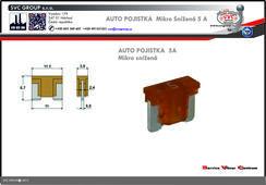 Pojistkový Bežová 5 A mikro snížená   Dodavatel SVC GROUP výrobce tažných zařízení