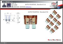 Pojistkový Bežová 5A standart  Dodavatel SVC GROUP výrobce tažných zařízení