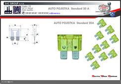 Pojistkový žlutá 20A standart  Dodavatel SVC GROUP výrobce tažných zařízení
