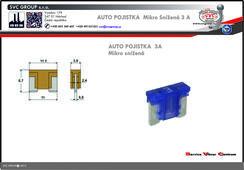 Pojistkový Bežová 3A mikro snížená   Dodavatel SVC GROUP výrobce tažných zařízení