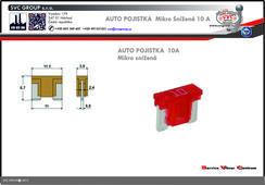 Pojistkový Bežová 10A mikro snížená   Dodavatel SVC GROUP výrobce tažných zařízení
