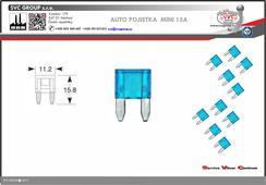 Pojistkový Modrá 15A MINI    Dodavatel SVC GROUP výrobce tažných zařízení