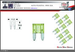 Pojistkový Žlutá 20A MINI    Dodavatel SVC GROUP výrobce tažných zařízení