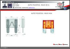 Pojista Žlutá MAXI 40A  Dodavatel SVC GROUP výrobce tažných zařízení