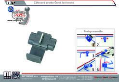 Zářezová svorka Černá izolovaná Dodavatel SVC GROUP Výrobce tažných zařízení