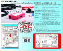 Miniaturní model III generace pro 13 pólovou elektro instalaci. Modul neodpojuje parkovací senzory PDC